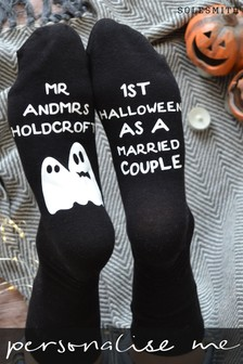 Personalised First Halloween as a Married Couple Women's Socks by Solesmith