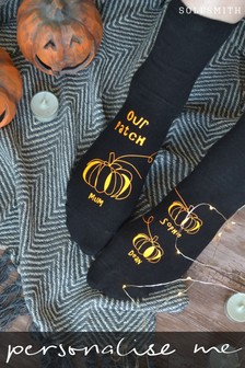 Personalised Family Pumpkin Patch Women's Socks by Solesmith