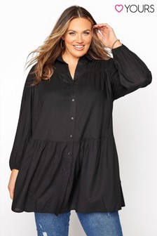 Yours Long Sleeve Tiered Tunic Blouse