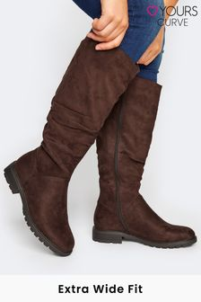 Yours Extra-Wide Affi Ruche Cleated Boot