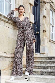 Long Tall Sally Animal Print Jumpsuit
