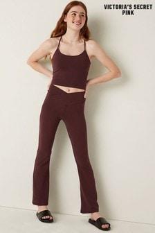 Victoria's Secret PINK Cotton High Waist Ankle V Crossover Flare