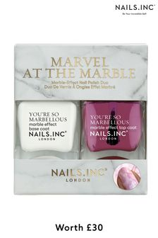NAILS INC Marvel at the Marble Duo (Worth £30)