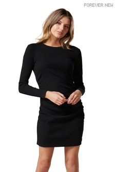 Forever New Eva Long Sleeve Ruched Dress