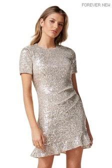 Forever New Delora Draped Sequin Mini Dress