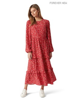 Forever New Selma Tiered Midi Dress