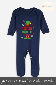 Personalised Family Christmas Elf Sleepsuit by Dollymix