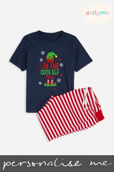 Personalised Kids Family Christmas Elf PJ Set by Dollymix