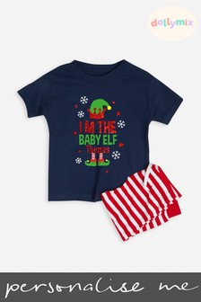 Personalised Baby Family Christmas Elf  PJ Set by Dollymix