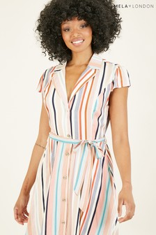 Mela Stripe Shirt 'Frances' Skater Dress