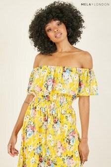 Mela Floral 'Ada' Bardot Dress