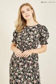 Mela Forest Flower 'Bernadine' Midi Dress