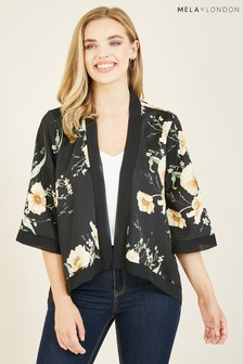 Mela Poppy Garden Printed 'Ema' Short Kimono