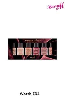 Barry M Nail Paint Gift Set Custom Velvet (Worth £34)