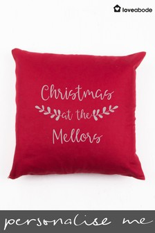 Personalised Christmas Cushion by Loveabode