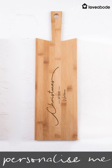 Personalised Christmas Serving Board by Loveabode
