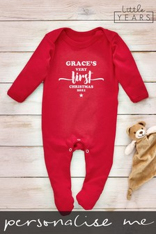 Personalised Stars Sleepsuit by Little Years