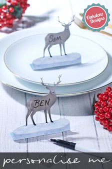 Personalised Set of Stag Place Settings by Oakdene Designs