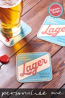 Personalised Retro Beer Mats by Oakdene Designs