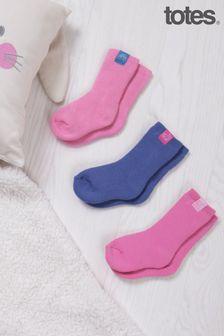 Just Sheepskin Kids 3 Pack Cotton Terry Socks