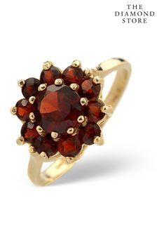 The Diamond Store Garnet Ring 9K Yellow Gold