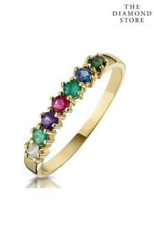 The Diamond Store D.E.A.R.E.S.T 9K Yellow Gold Ring