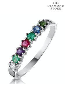 The Diamond Store D.E.A.R.E.S.T 9K White Gold Ring