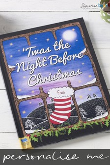 Personalised Twas the Night Before Christmas Book Hardback by Signature Book Publishing