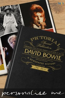 Personalised David Bowie Newspaper Book by Signature Book Publishing