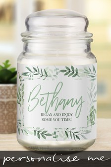 Personalised Floral Candle Jar by Signature Gifts