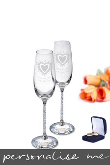 Personalised Vintage Champagne Flutes by Signature Gifts