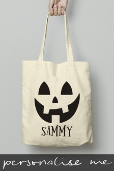 Personalised Halloween Treats Tote Bag by Signature Gifts