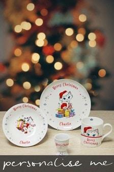 Personalised Christmas Nina Kitten Breakfast Set by Signature Gifts
