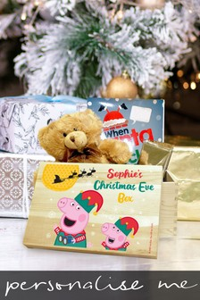 Personalised Peppa Pig™ & George Pig Christmas Eve Box by Signature Gifts