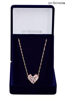 Jon Richard Rose Gold Plate Cubic Zirconia Necklace