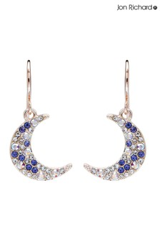 Jon Richard Multi Coloured Moon Earrings