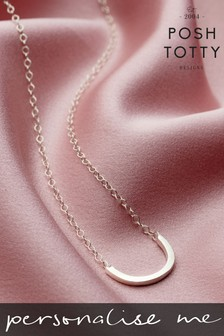 Personalised Curve Necklace by Posh Totty Designs