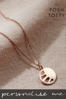 Personalised Small Sunburst Necklace by Posh Totty Designs