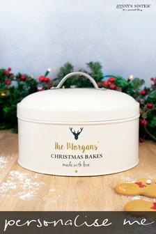 Personalised Christmas Cake Tin by Jonny's Sister