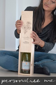 Personalised Birthflower Wine Box by Oh So Cherished