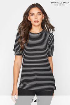 Long Tall Sally Puff Sleeve Stripe T-Shirt