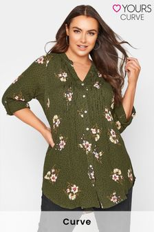 Yours Pintuck Floral Shirt