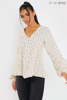 In The Style Jac Jossa Puff Sleeve Blouse