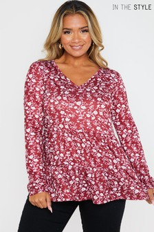 In The Style Jac Jossa Long Sleeve Smock Top