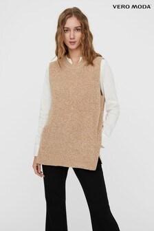 Vero Moda Long Sleeve Knit Vest Top