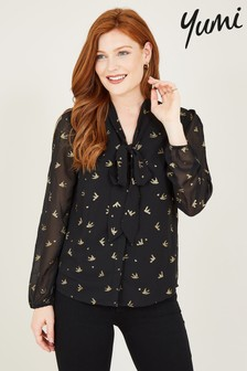 Yumi Pussy Bow Blouse