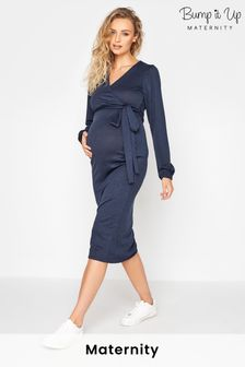 Bump It Up Ruched Wrap Dress