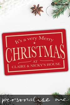 Personalised A Very Merry Christmas Sign by Loveabode