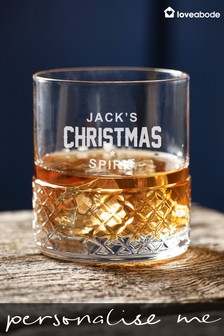 Personalised Crystal Christmas Glass by Loveabode