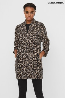 Vero Moda Leopard Print Brushed Coatigan
